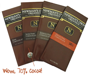 Newmans Organic Chocolate
