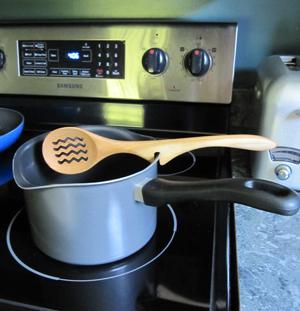 Wiggle Slot Wood Spoon