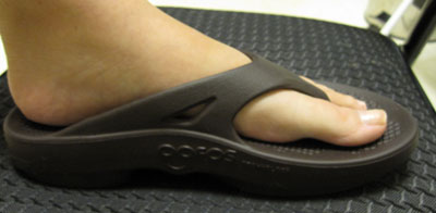 OOfos Mocha Thong Sandals