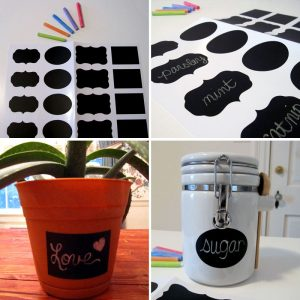 Chalkboard Labels in 4 Shapes by Kanvas