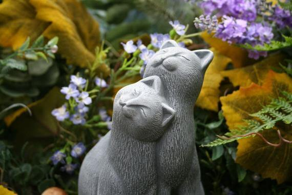 Outdoor Concreate Cat Statue | Gardening Gifts