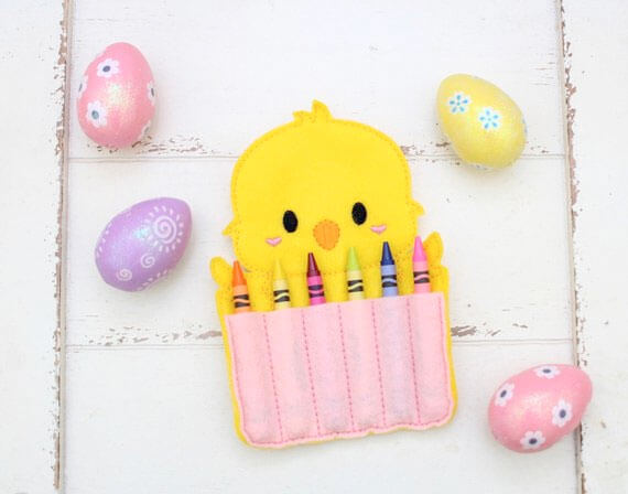 Easter Basket Stuffer Chick Crayon Holder