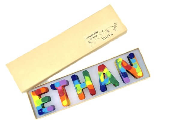 Easter Gifts for Kids | Personalized Alphabet Rainbow Crayons