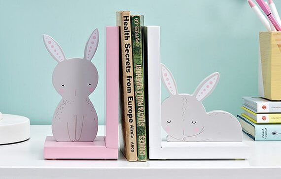 Easter Bunny Bookends | Book Gifts for Kids
