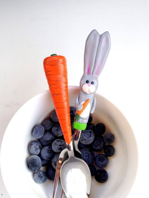 Easter Bunny Cutlery for Kids