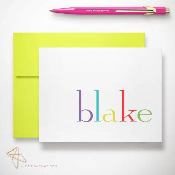Personalized Kids Stationery Set