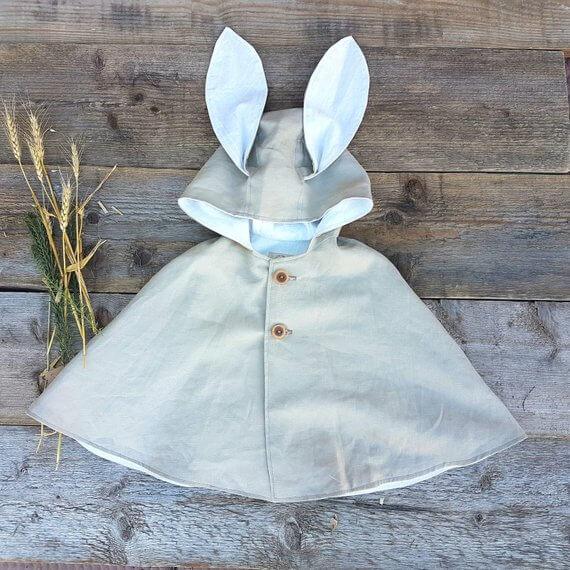 Linen Bunny Cape