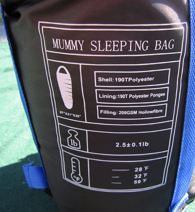 3-Season Mummy Sleeping Bag with Waterproof Shell