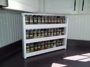 Wood Spice Rack Holder