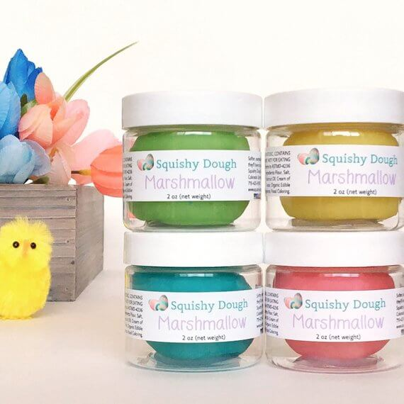 Squishy Dough in Spring Pastel Colors