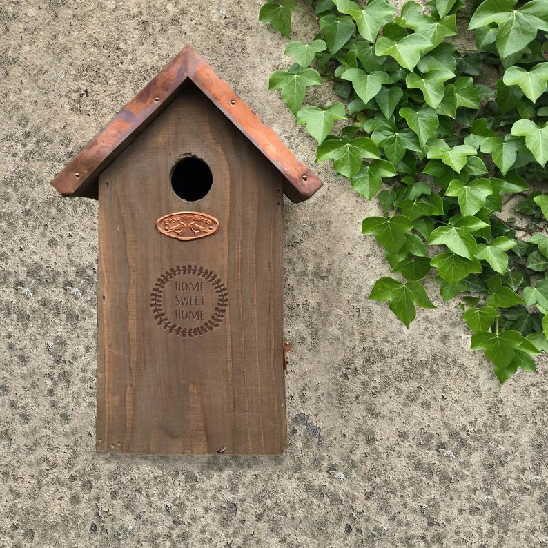 Personalized Bird House with Copper Roof