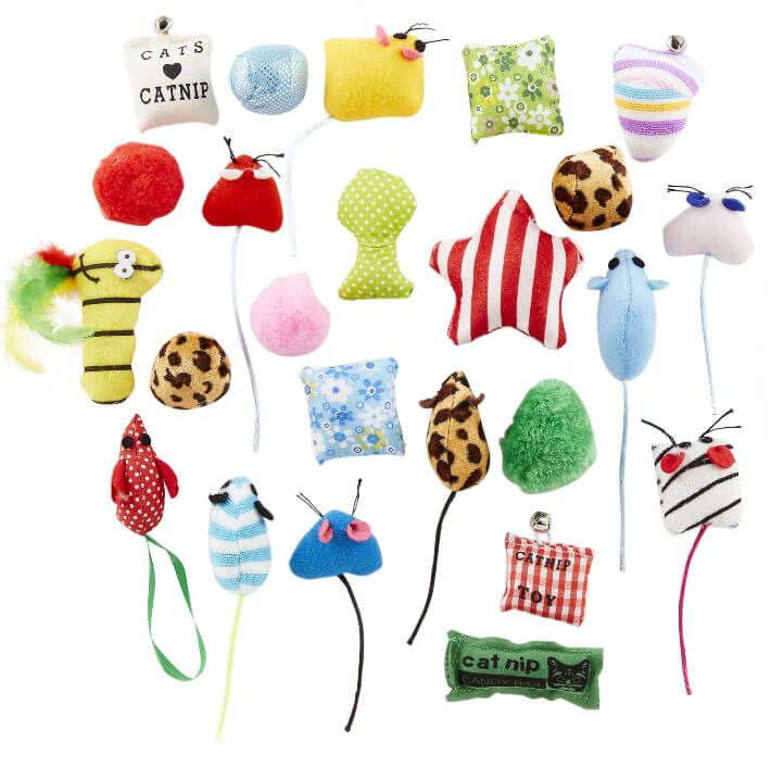 Cat toy grab bag for holidays