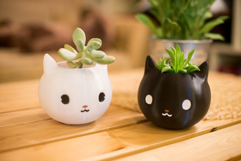 Cat planter garden gift for cat lovers