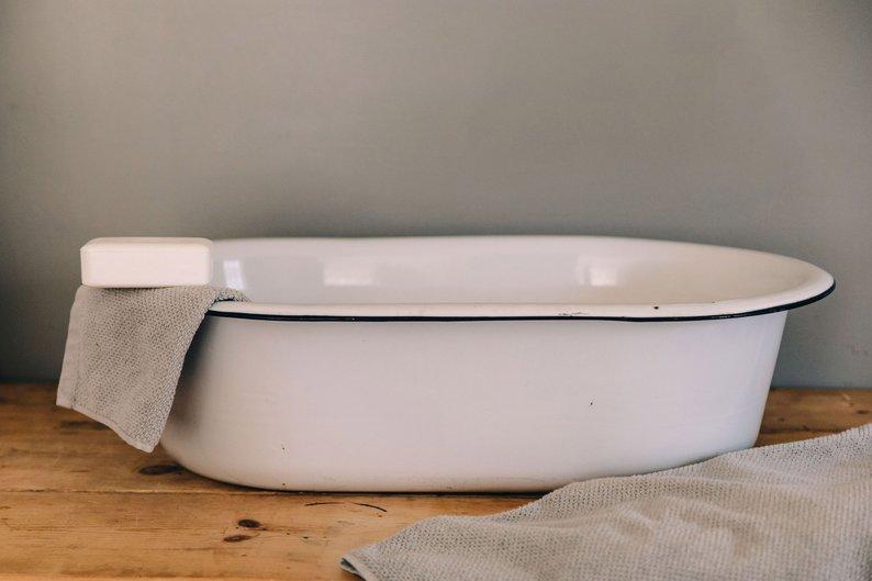 Enamelware Wash Tub