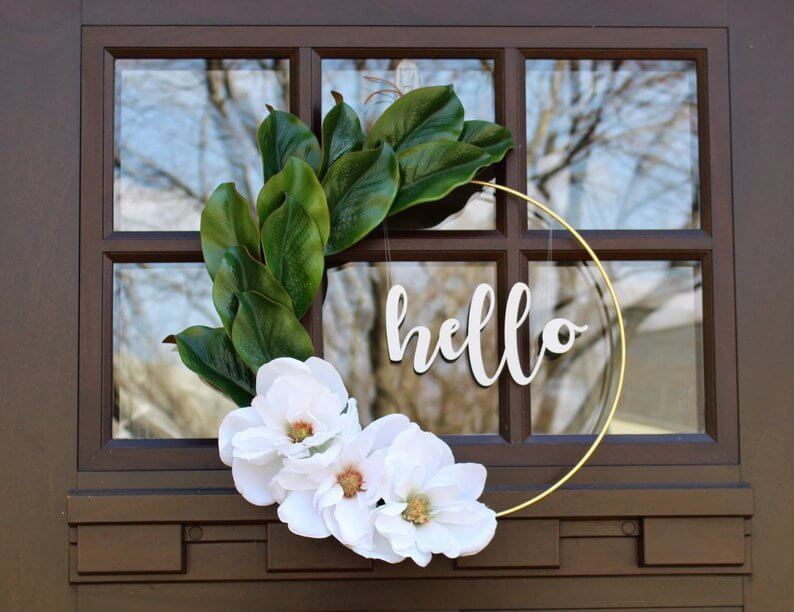 Simple magnolia wreath