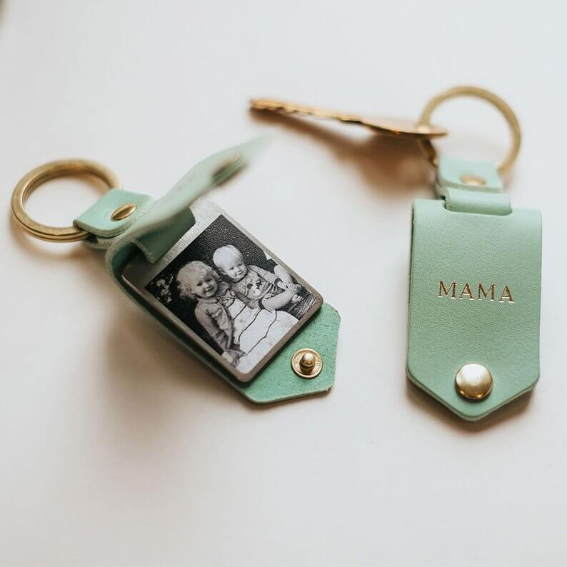Personalized photo keyring for Mother's Day