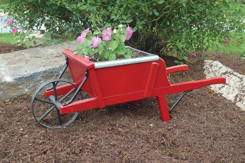 Amish Handcrafted Wood Wheelbarrow