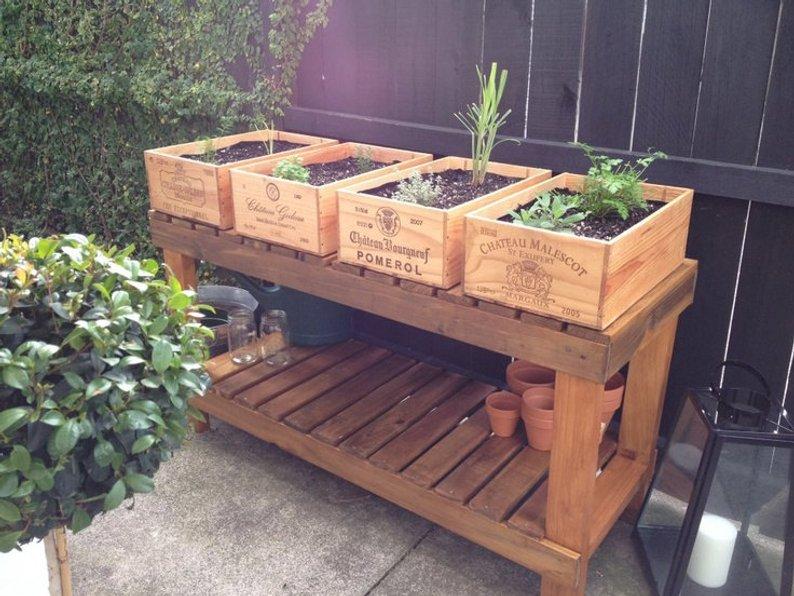 Wine Box Planters