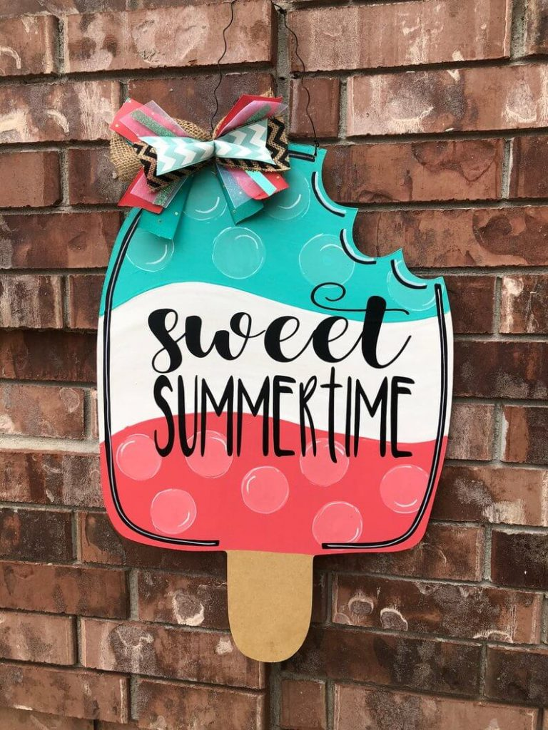 Ice Cream Door Hanger