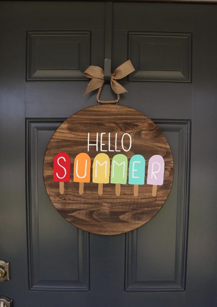 Popsicle Door Hanger for Summer