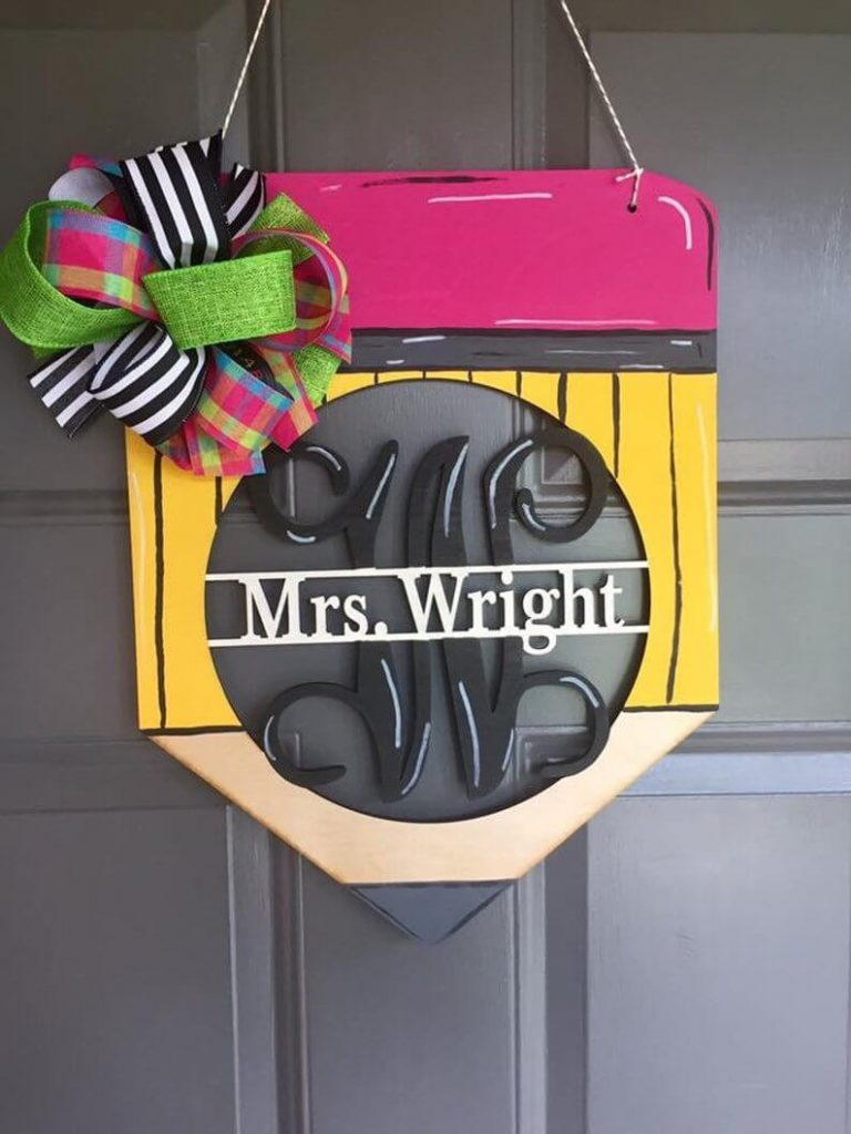 Teacher Pencil Door Hanger