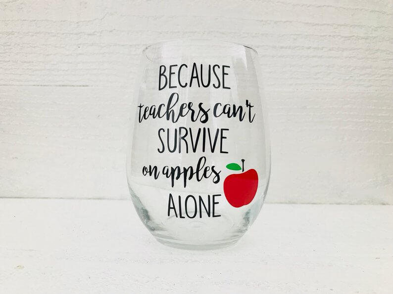 Teacher Wine Glass Gift