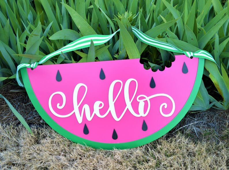 Cute Watermelon Door Hanger