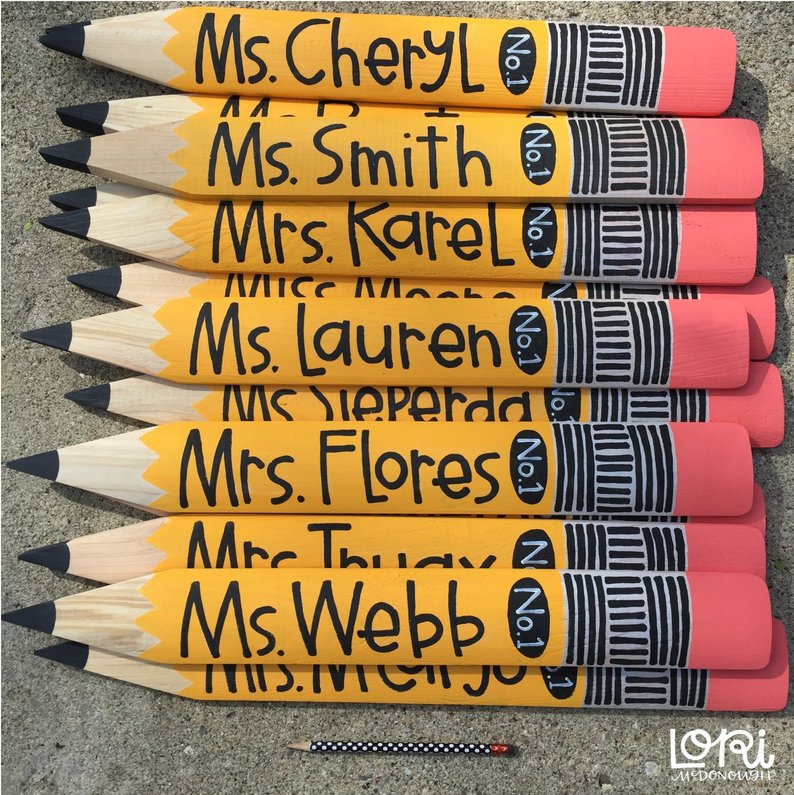 Giant Wood Pencil for Teachers