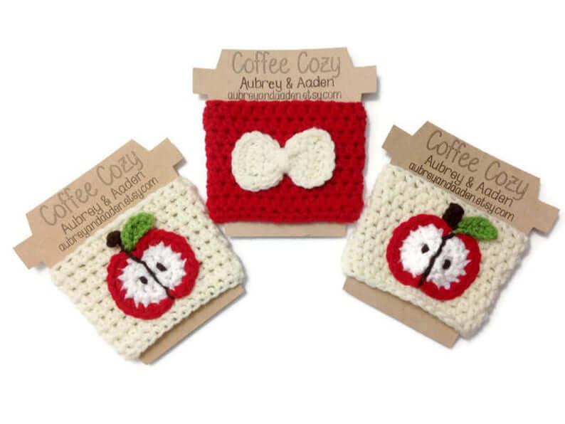Crochet Teacher Apple Cozy