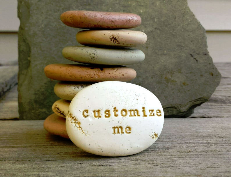 Custom word rock gift