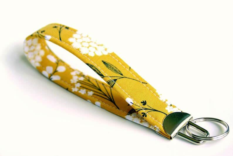 Fabric Key Fob Wristlet