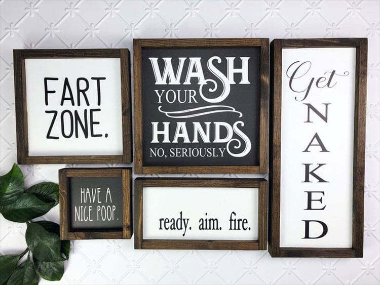 Funny Bathroom Sign Collection