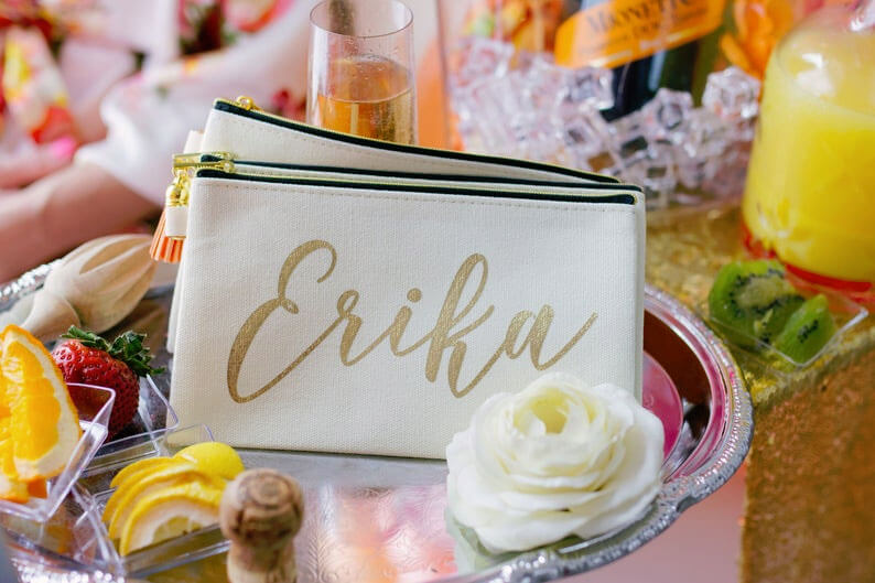 Personalized cosmetic pouch