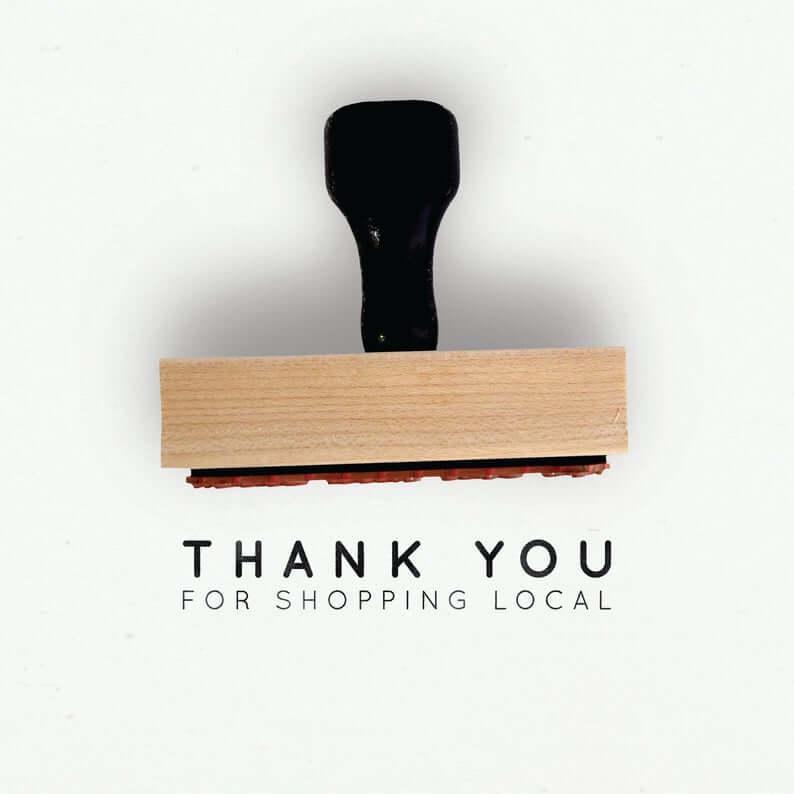 Shop Local Rubber Stamp