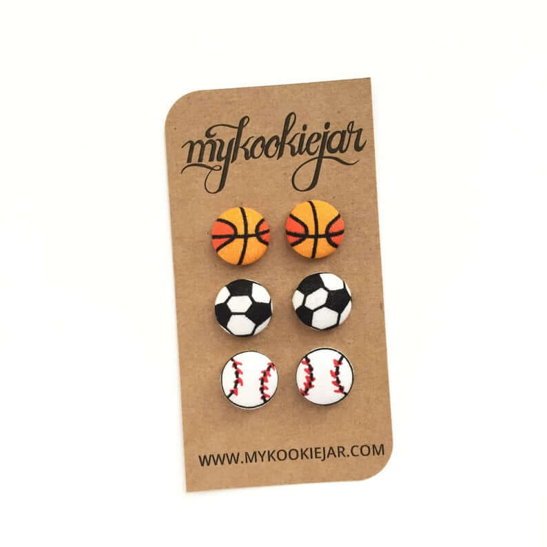 Sport balls earrings