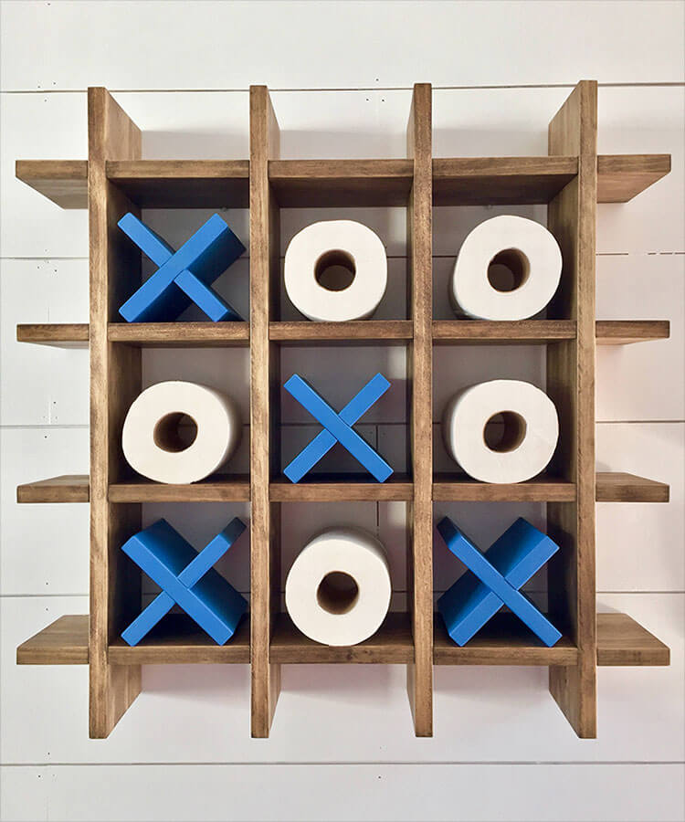 Tic Tac Toe Toilet Paper Holder