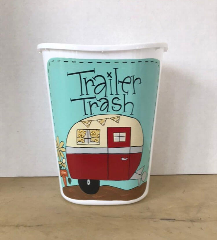 Funny Trailer Trash Can