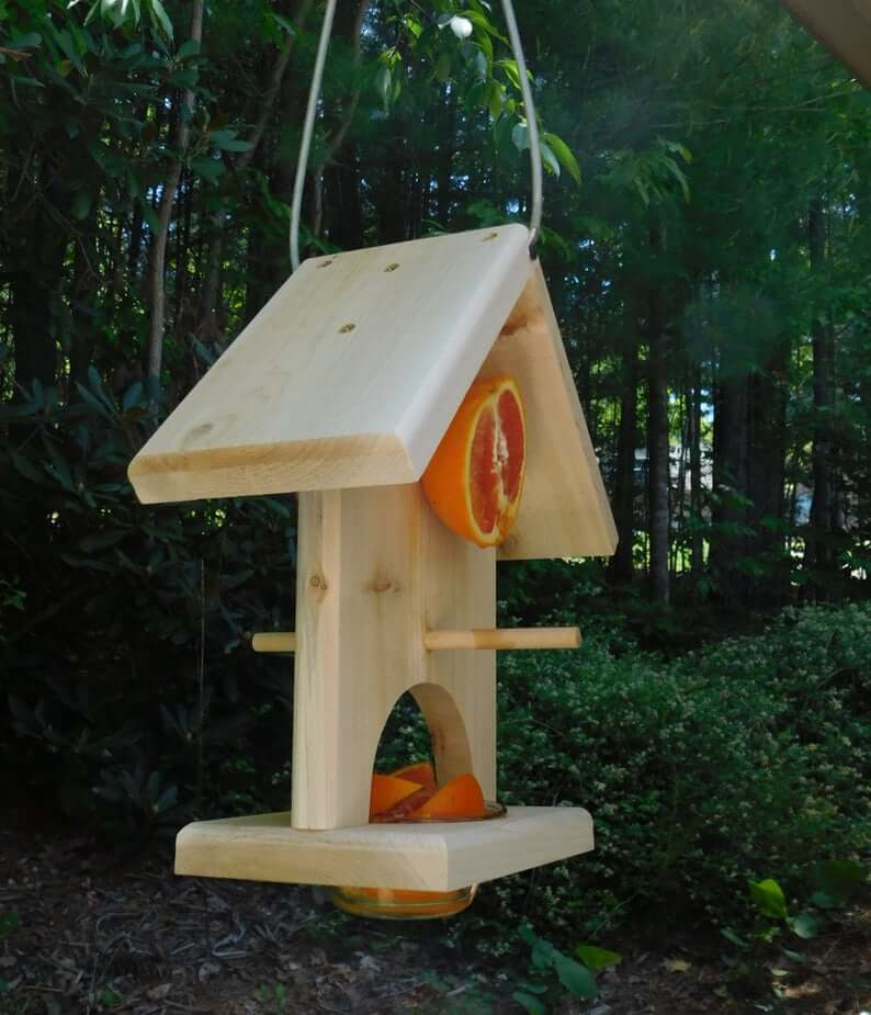Fruit bird feeder Mountain Woodworking and Crafts