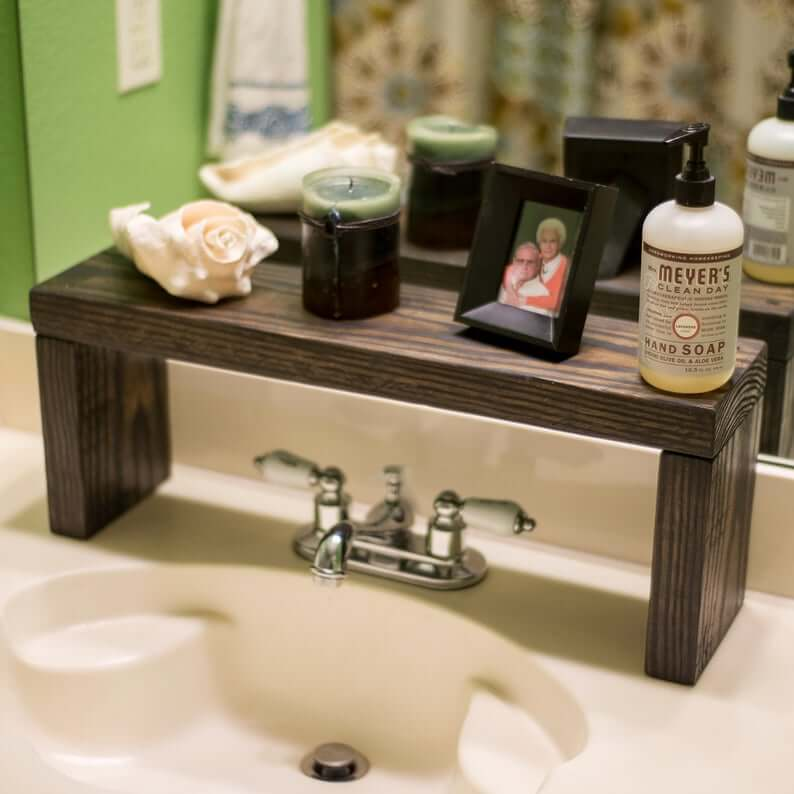 Farmhouse over the sink shelf
