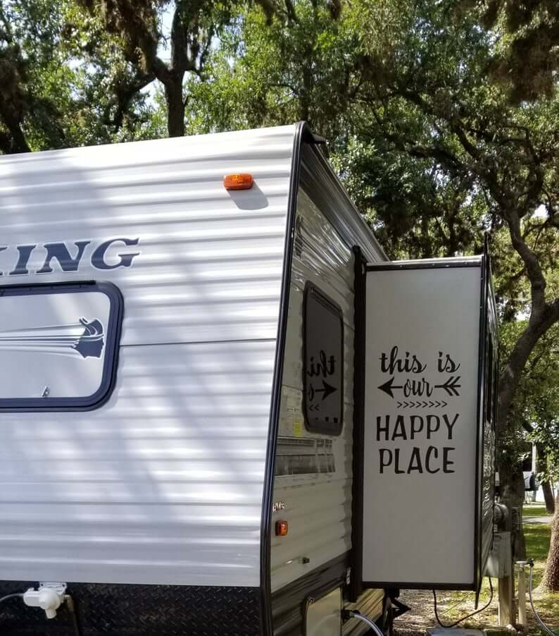 This is our happy place RV vinyl sticker