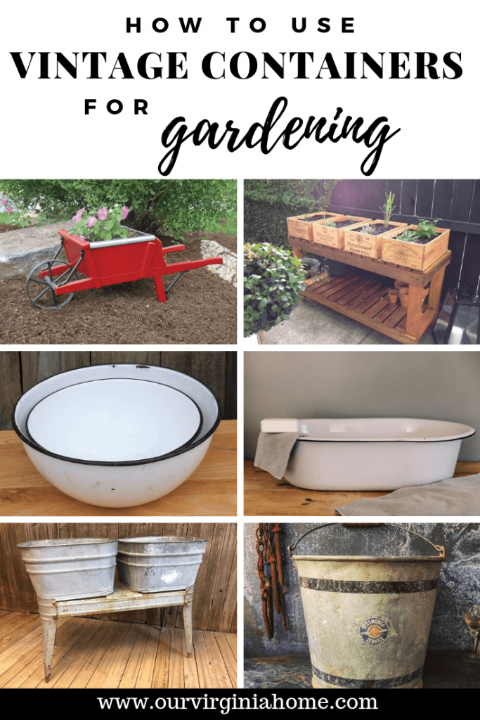 How to Use Vintage Containers for Gardening