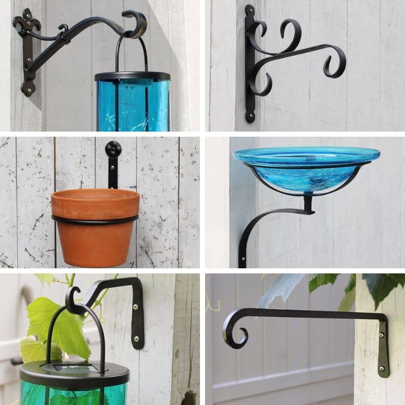 Forged Wrought Iron Hooks by Forge and Flower | Bird feeder hooks | Planter hooks