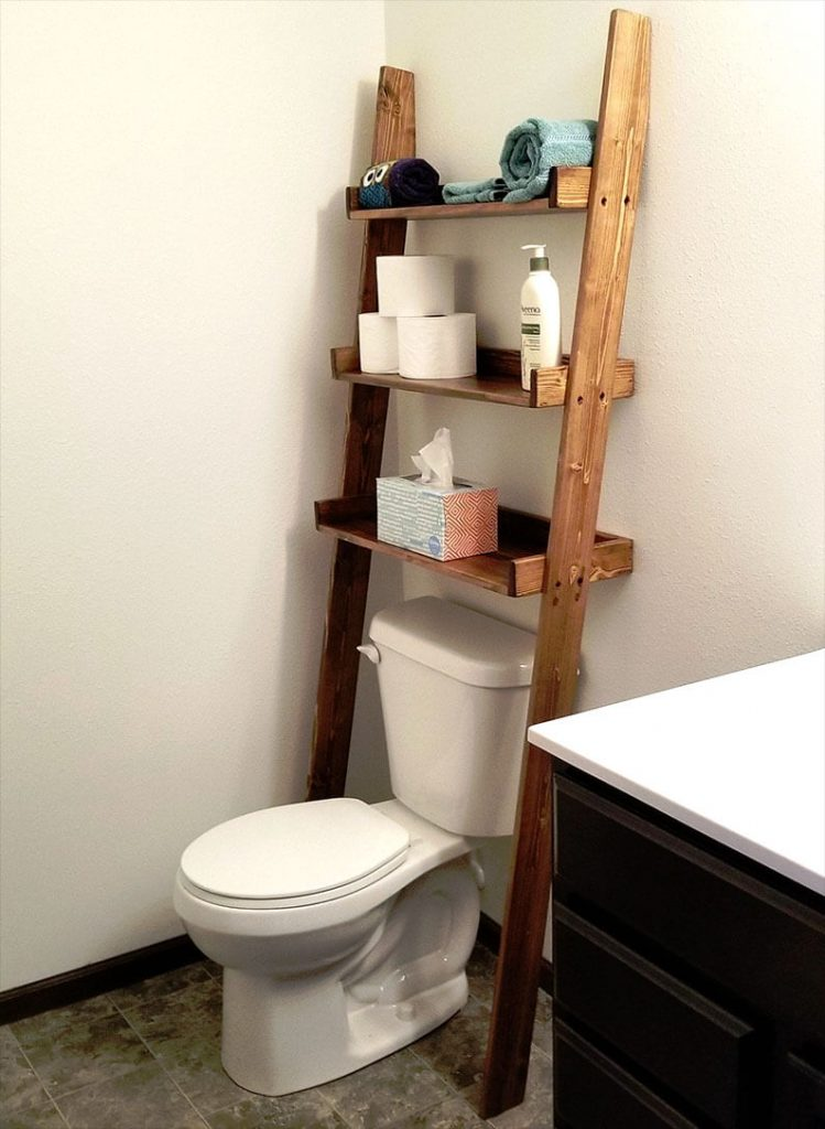 Toilet ladder shelf