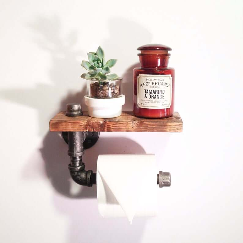 Industrial toilet paper shelf