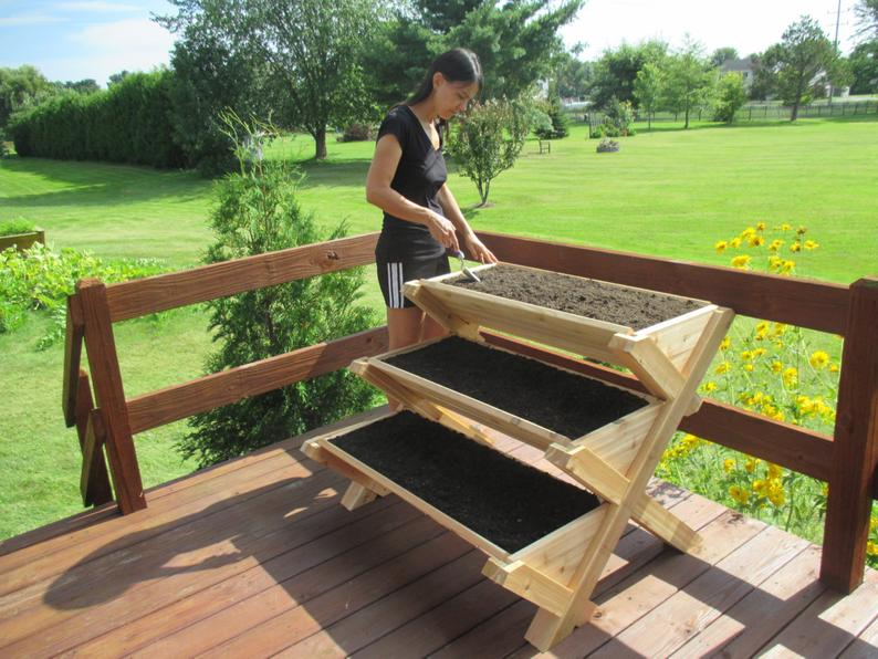 Ergonomic Raised Flower Bed