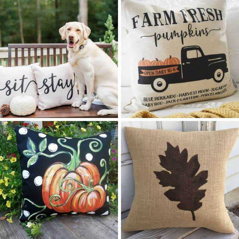 Fall porch pillows | Outdoor fall pillows | Porch decorations