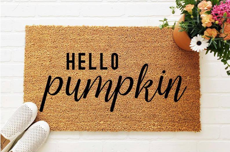 Fall Doormat | Hello Pumpkin | Halloween Decorations