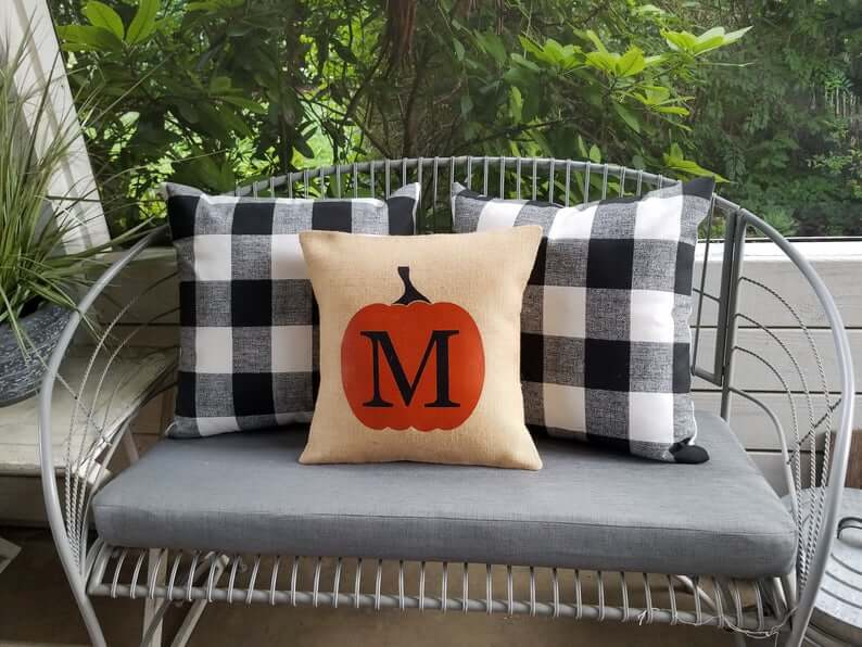 Outdoor Pumpkin Pillow