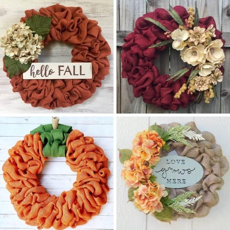 Fall Wreath Decorating Ideas