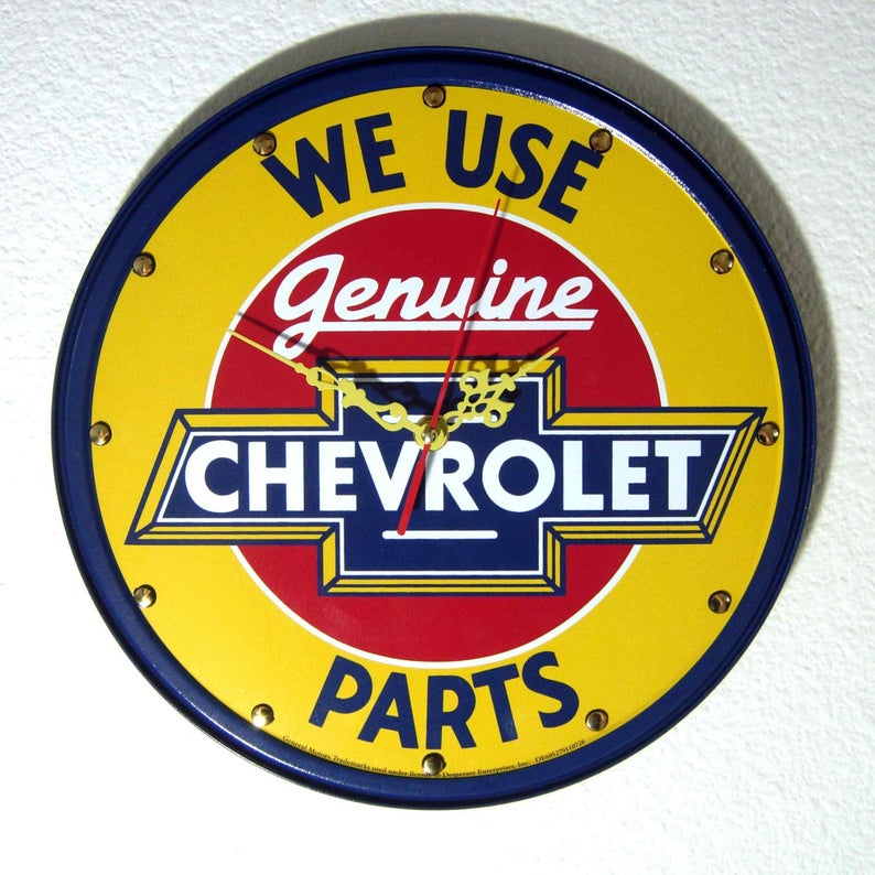Chevy Parts Wall Clock
